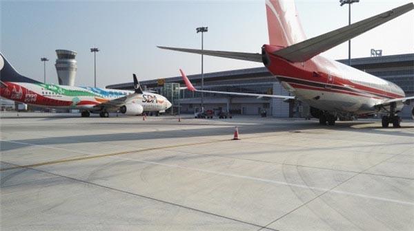 日照人民乘坐从山字河机场起飞的航班